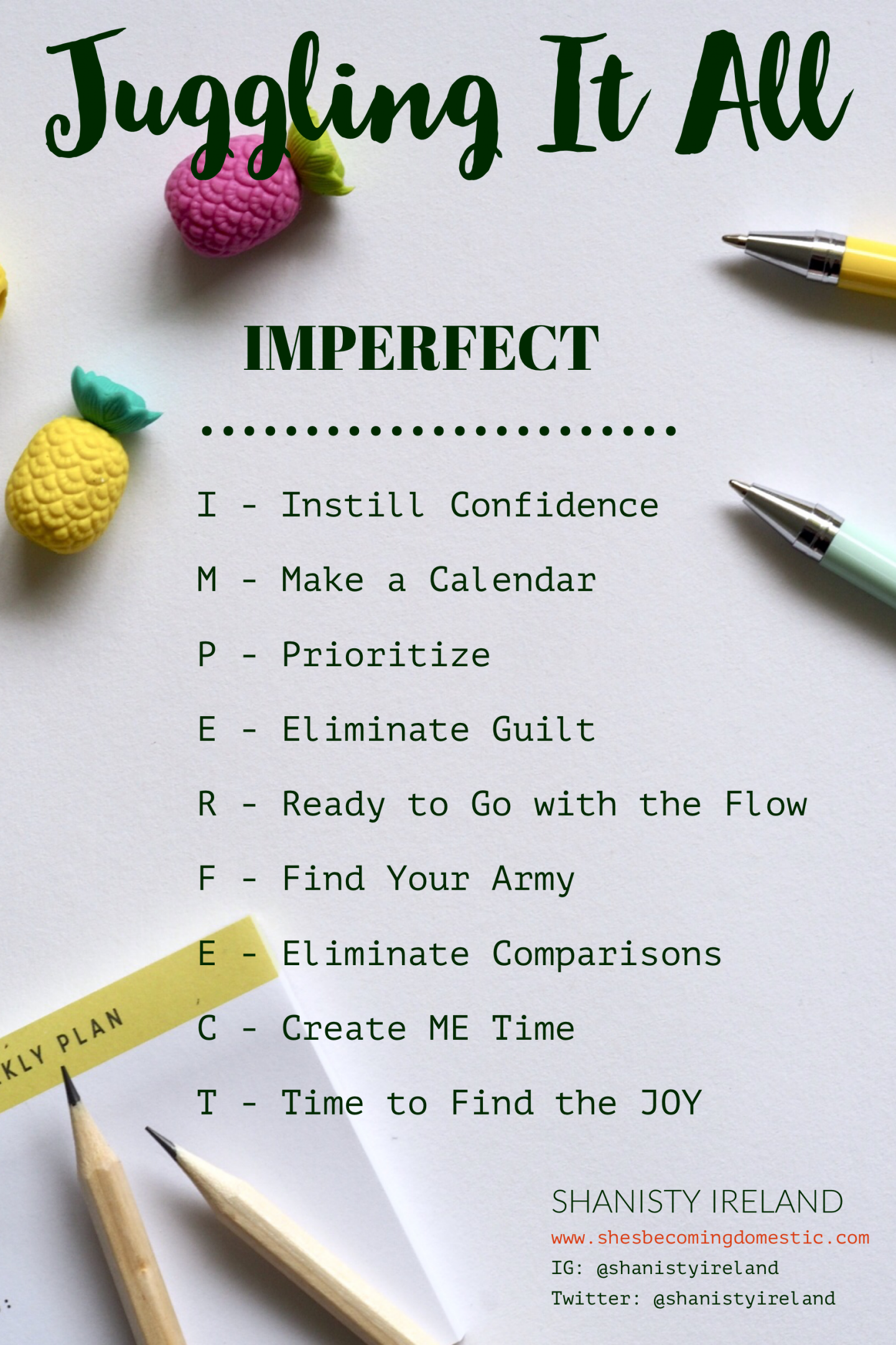 IMPERFECT – 9 simple steps to making it all work!