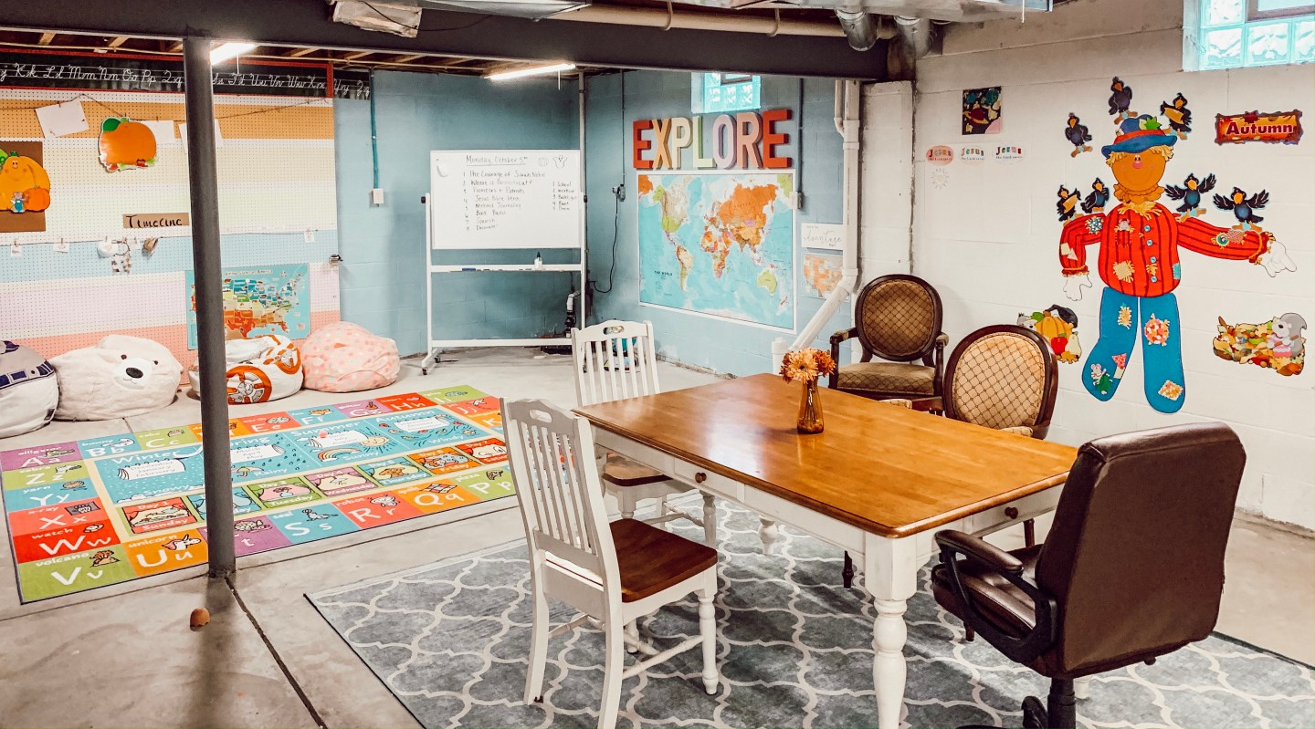 Sneak Peek at our Homeschool Classroom!